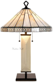 7856 5564 Tafellamp Tiffany H80cm Ø30cm Serenity