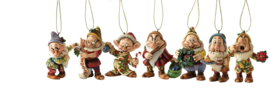 "SNOW WHITE Set van 7 Hanging Ornament ""Seven Dwergen"" Jim Shore"