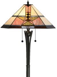 5781 Vloerlamp Dark Star H158cm Met Tiffany kap 48x48cm Schuitema