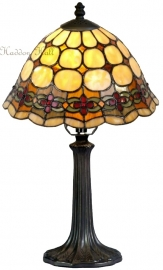 8828 9022 Tafellamp Tiffany H41cm Ø25cm Victoria