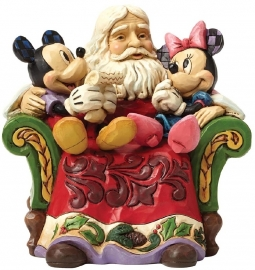 "MICKEY, MINNIE & SANTA ""Christmas Wishes"" H 14cm Jim Shore 4046017"
