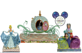 Cinderella Carriage - Lady Tremaine - Cinderella Transformation - Set van 3 Jim Shore beelden