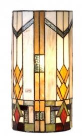 9907 Wandlamp Tiffany H35cm B17cm Cilinder model Durban