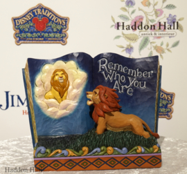 "Lion King Storybook ""Remember Who You Are"" H16cm Jim Shore 6001269"