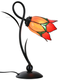 8099 Bureaulamp H40cm met Tiffany kap Ø15cm Lovely Flower