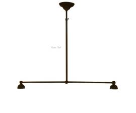 90 Ophanging B90cm voor hanglamp met 2 kappen