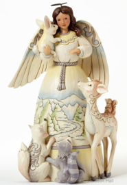 Woodland Angel  H 24cm Jim Shore 4041084 White Woodland Engel uit 2014!