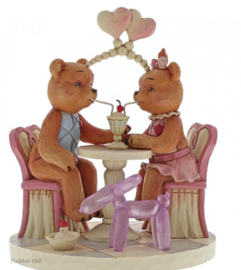 Sharing Sweet Times - Button & Pinky Sharing Ice Cream H13cm Jim Shore 6005126