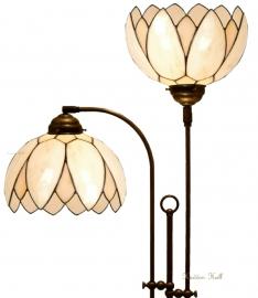 5135 Vloerlamp met 2 Tiffany kappen Ø26cm  Lelie