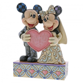 "MICKEY & MINNIE ""Two Souls, One Heart Wedding"" H 17cm Jim Shore 4059748"