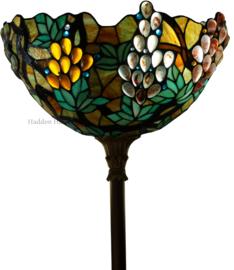 TT120 Vloerlamp Uplight H178cm met Tiffany kap Ovaal 42x24cm Grapes