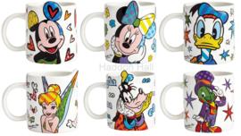 Mickey Minnie Donald Tinker Bell Goofy Japje Krekel Set van 6 Britto mokken