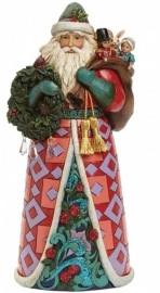 """Beautiful Winter Treasures"" H25cm Jim Shore Santa 4041064"