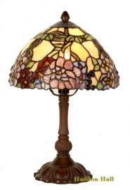 1103 Tafellamp Tiffany H32cm Ø22cm Flores