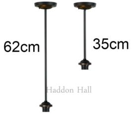 8125 8160 Hanglamp Zwart met Tiffany kap Ø30cm Campanula