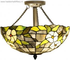 5823 Hanglamp Plafonniere Tiffany Ø40cm Groen Marta