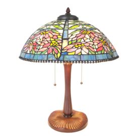 5873 Tafellamp Tiffany H58cm Ø47cm