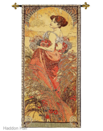 "Alphonse Mucha ""Zomer""  Wandkleed + Stang 150 x 68cm Gobelin Geweven"