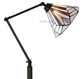 5899 Vloerlamp H175cm met Tiffany kap Ø25cm Astoria Brown