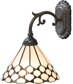 5893 Wandlamp Grijs met Tiffany kap Ø25cm Wilson