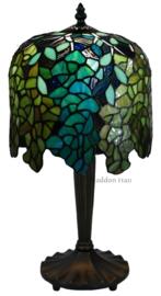 COT04 Tafellamp Tiffany H47cm Ø24cm Wisteria Multicolor