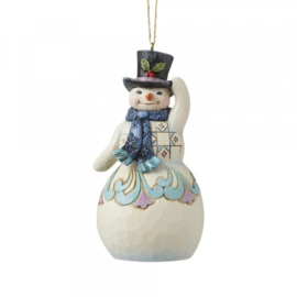 Snowman with Scarf and Top Hat Set van 2 Jim Shore