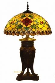 9931 T5380 Tiffany Tafellamp H83 Ø50cm Santana Robuste voet