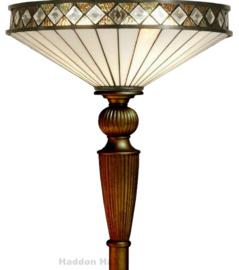 TP450 Vloerlamp Uplight H186 met Tiffany kap Ø50cm Fargo