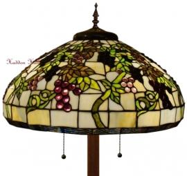 5340 Vloerlamp Tiffany H165cm  Ø51cm Ronde Voet Bruin Druva