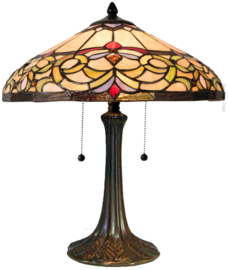 5908 Tafellamp Tiffany H44cm Ø40cm Norman