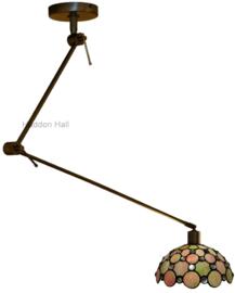 5797 Hanglamp Verstelbaar Draaibar met Tiffany kap Ø25cm Pearl