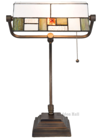 5194 Bureaulamp H51cm met Tiffany kap Poiret