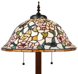 5183 Vloerlamp H165 met Tiffany kap Ø46cm Butterfly Monarch