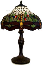 5849 9318 Tafellamp Tiffany H48cm Ø30cm Multicolor Dragonfly