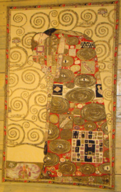 "Gustav Klimt Wandkleed 115x70cm ""L' Acomplissement"""