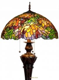 9131 9459 Vloerlamp Tiffany  Ø50cm Autumnleaf   Bolling in de voet