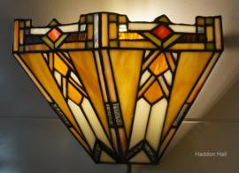 9263 Wandlamp Tiffany B32cm schelpmodel Durban Art Deco