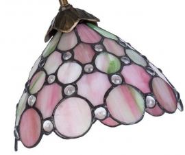 """5798 Bureaulamp Tafellamp H50cm met Tiffany kap Ø20cm """"Pearl"""""""