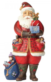 As You Wish H 26 cm  Jim Shore Santa holding presents  4058787