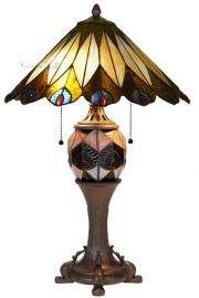 5773 Tafellamp Tiffany H63cm Ø40cm Peacock