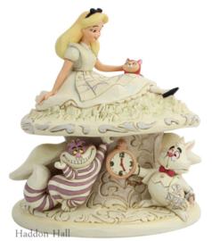Alice in Wonderland White Woodland H17cm Jim Shore 6005957