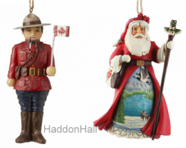 Canadian Nutcracker & Santa H13cm Jim Shore