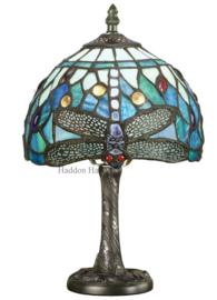 T9SH20 TMB12 Tafellamp H32cm met Tiffany kap Dragonfly Blue Vivid