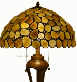 5709 Tafellamp met Stenen H78cm Ø47cm Sahara Pebble