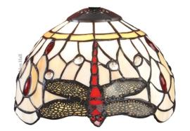 T056SH20 Kap Tiffany Ø20cm Beige Dragonfly