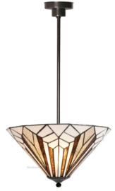 5897 7916 Hanglamp Tiffany Ø40cm Astoria Brown