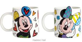 Mickey Minnie set van 2 Britto mokken H9cm