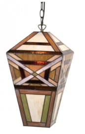 *Hanglamp Tiffany. Groot lantaarn model 9913 Laatste exemplaar!
