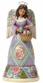 """""""Easter Glory"""" H 21cm Jim Shore Paasengel uit 2014  nr. 4040545"""