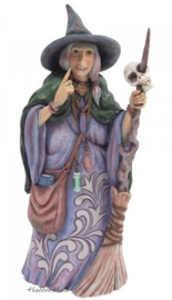 Witch with Broom and Skull H26cm Jim Shore 6009507
